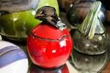 Boite céramique rouge