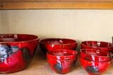 Bols rouge art céramique