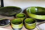 Céramique art vert