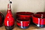 Céramique cuisine rouge en