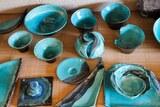 Céramique turquoise en