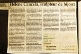 Article journal corse matin helene cancela orfevre balagne bijoux