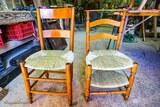 Chaises avec assise en paille