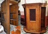Restauration confessional eglise calvi