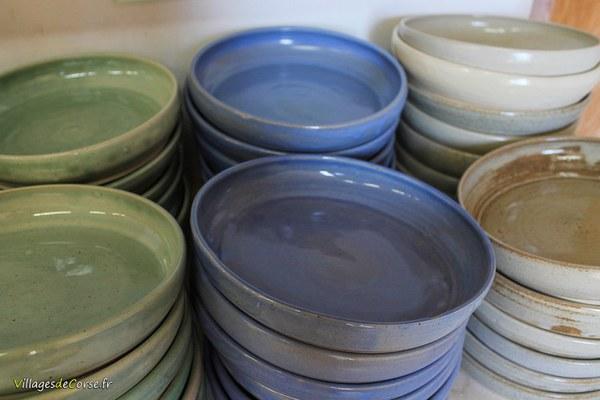 assiettes creuses ceramique terre cuite potier