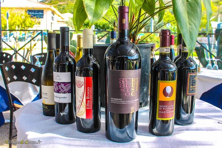 Rubesto vin rouge italien Il Pulcinella 2 Restaurant à Saint Florent