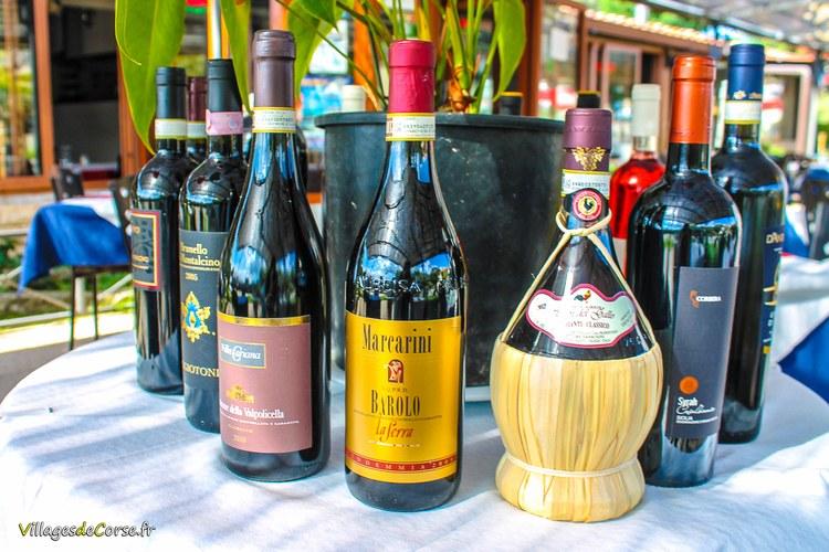 Vins italiens Il Pulcinella 2 Restaurant à Saint Florent