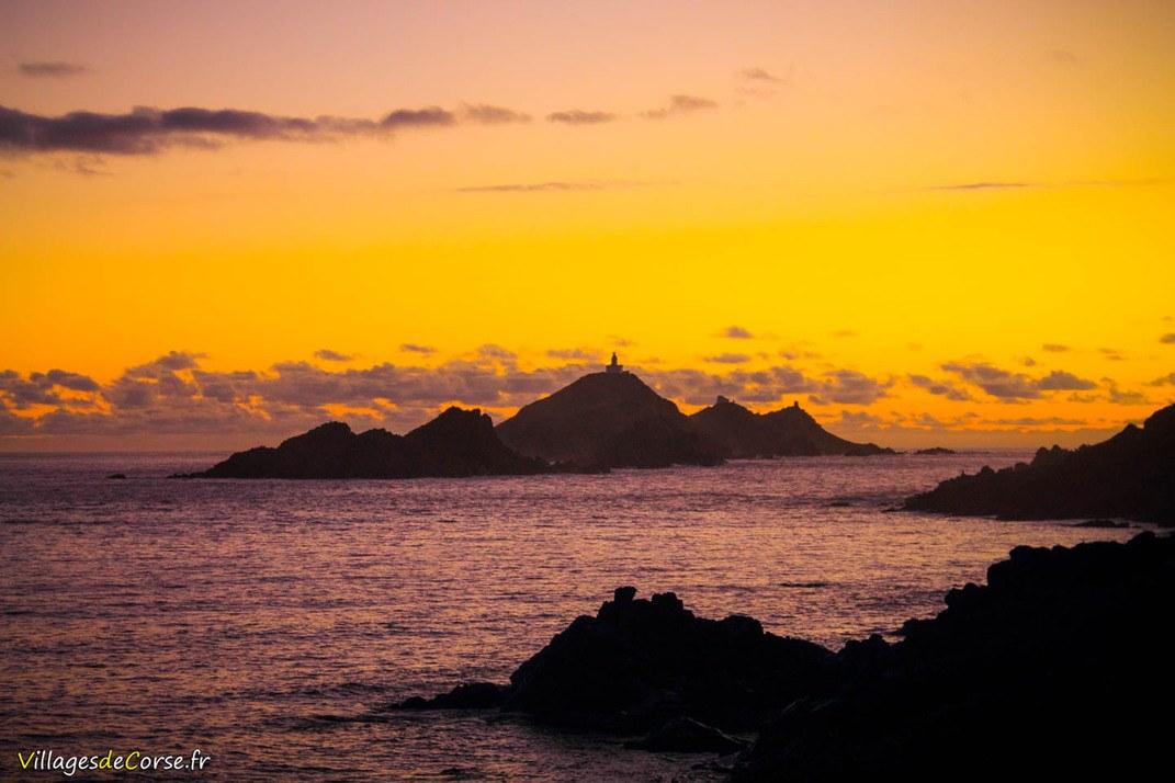 Coucher de soleil sur les Iles Sanguinaires - Ajaccio