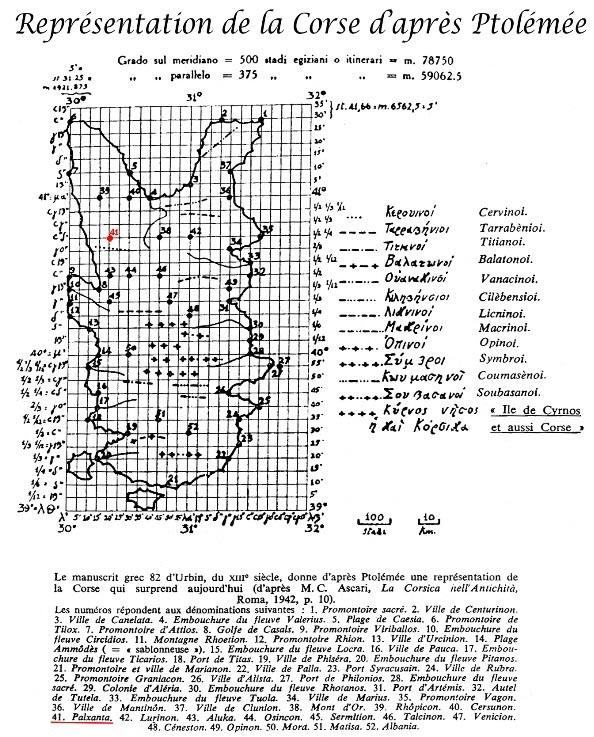carte Corse Ptolemee