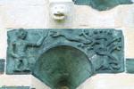 Scene eve tentation serpent sculpture eglise murato
