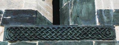 Sculpture corde tressee eglise saint michel murato