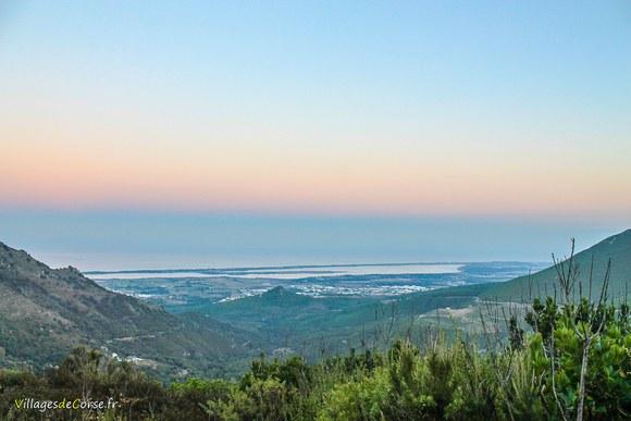 Coucher de soleil etang biguglia Défilé du Lancone à Olmeta di Tuda