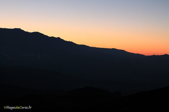 Coucher de soleil Défilé du Lancone à Olmeta di Tuda