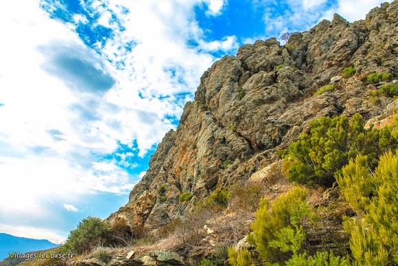 Randonnee montagne corse Défilé du Lancone à Olmeta di Tuda