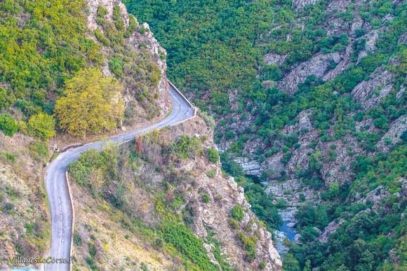 Route lancone Défilé du Lancone à Olmeta di Tuda