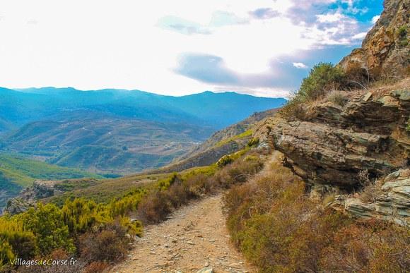 Sentier randonnee olmeta Défilé du Lancone à Olmeta di Tuda
